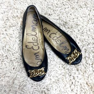 ✨Sam Edelman Carmen Gold Chain Ballet Flats sz 8